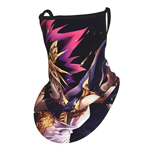YU-GI-OH! - Polaina para el cuello de verano, bufanda para la cara, bufanda, pañuelos, para el sol y el polvo UV con bucles para los oídos
