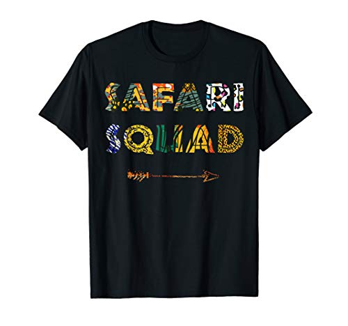 Safari Squad African Family Vacation Summer Vacay Trip Zebra T-Shirt