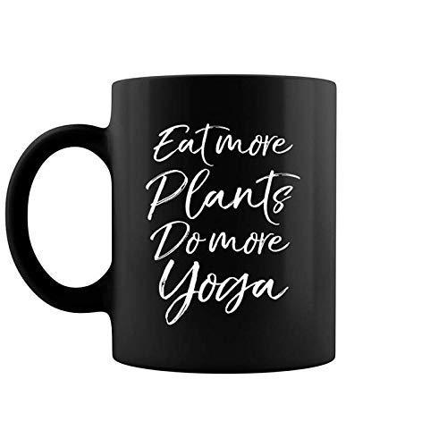 Vegan Fitness Workout Gift Cute Eat More Plants Do More Yoga Coffee Mug