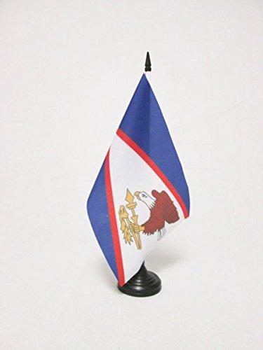 AZ FLAG Bandera de Mesa de Samoa Americana 21x14cm - BANDERINA de DESPACHO SAMOANA 14 x 21 cm