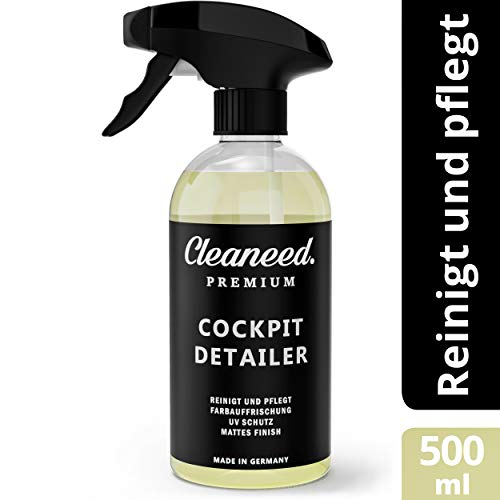 Cleaneed Premium Cockpit Detailer – Made IN Germany – Einfache Reinigung und Auffrischung Aller Materialien – 500ml