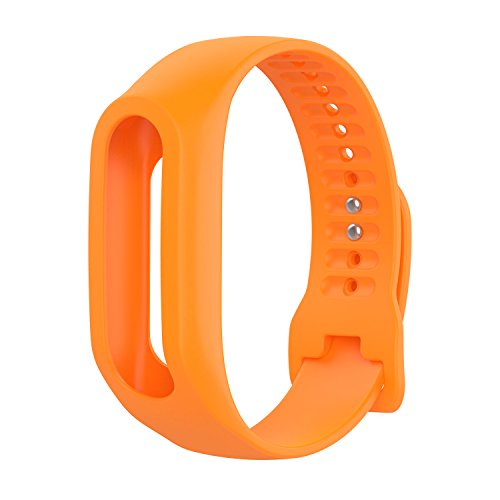 Replacement Band for Tomtom Touch, Orange Silicone Fitness Tracker Replacment Bands Bracelet Sport Strap Wristband Accessory for Tomtom Touch