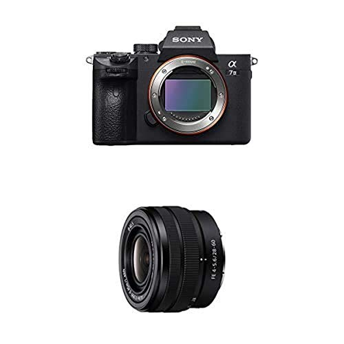 Sony a7 III ILCE7M3/B Full-Frame Mirrorless Interchangeable-Lens Camera with 3-Inch LCD, Black with Sony FE 28-60mm F4-5.6 Full-Frame Compact Zoom Lens (SEL2860)