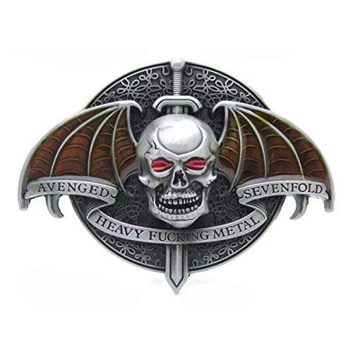 RQWY Hebilla de cinturón Avenged Sevenfold Heavy Metal Rock Punk Musi