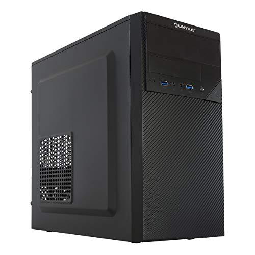 UNYKAch Aero C20 MATX - Caja Ordenador con Fuente 500 W, 2xUSB 3.0 Negro