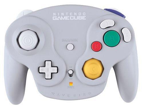 GameCube - original Nintendo Controller / Pad Wavebird Wireless #grau + Empfänger