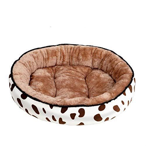 GYMAA The Pet Dog Kennel Cat Mat Bed Plush Round Double-Sided Is Used For Large And Medium-Sized Small Dog Portable And Washable