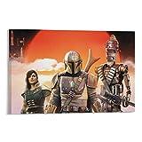 Panel de póster de película de Star Wars para decoración de pared de la temporada 2 mandaloriana,...