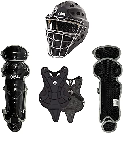 TAG Youth Catchers Set, Battle Gear Series - Helmet, Body Protector, Leg Guards (Ages 9-12)