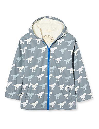 Hatley Jungen Sherpa Lined Splash Jackets Regenjacke, Farbwechsel T-Rex, 4 Years