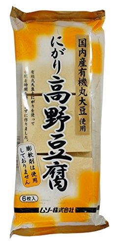 ムソー 有機大豆使用にがり高野豆腐 6枚