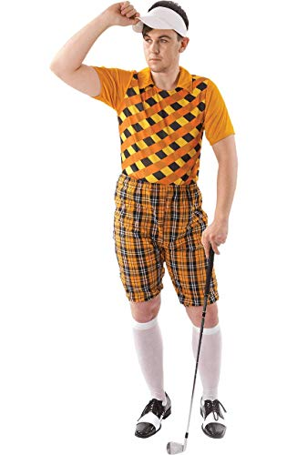 ORION COSTUMES Male Golfer Costume (Orange & Black)