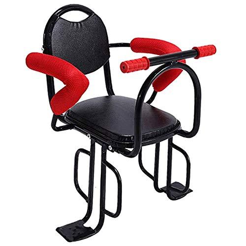 Silla Bicicleta Niño Trasera para Bebe Infantil, Portabicicletas MTB Asientos De Seguridad con Reposabrazos Barandilla Pedales Cinturón De Seguridad