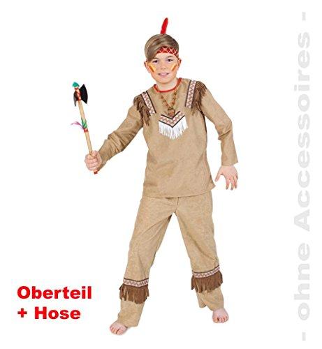 Kinder-Kostüm Indianer-Kostüm Kleiner Wolf Wilder Westen (Gr. 104)
