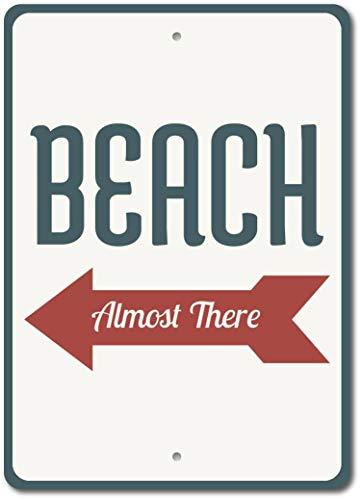 Beach Marker Póster de Pared Metal Creativo Placa Decorativa Cartel de Chapa Placas Vintage Decoración Pared Arte Muestra para Bar Club Café