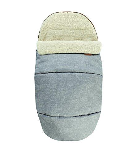 Maxi-Cosi kuschelig weicher 2-in-1 Fußsack, geeignet für alle Maxi-Cosi Kinderwagen, auch als Sitzpolster verwendbar, nomad grey