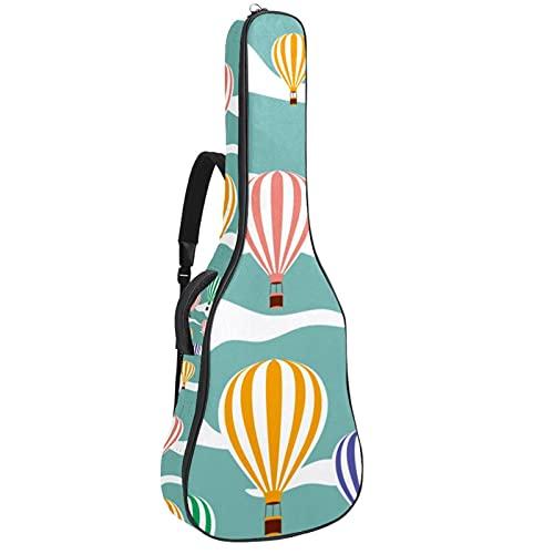 Bolsa para Guitarra Globo aerostático colorido Funda para Guitarra Acústica Clásica y...
