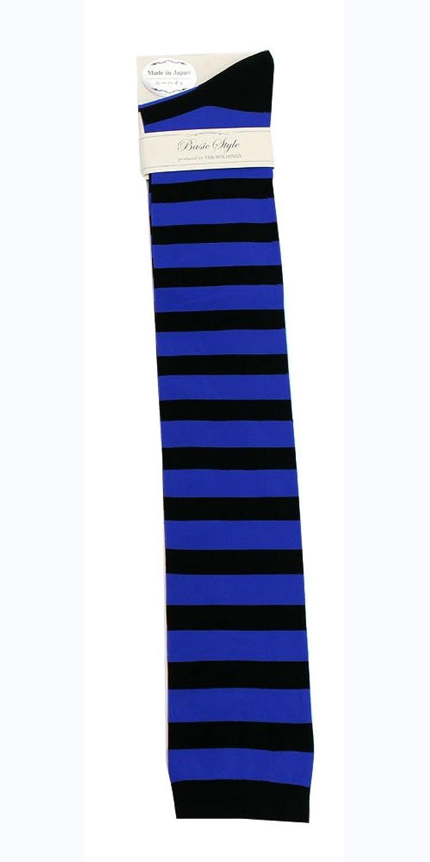 TSB collection レディース ニーハイ 丈 ボーダー ソックス 23-25cm