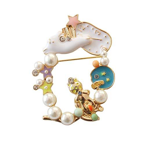 Broche de joyería japonesa Alice Garland Pearl Watch Little Girl (G)