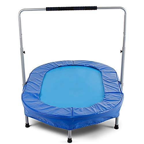 Mini Trampoline voor dubbele Kinderen met Handle Bar and Safety Padded Cover Bungee Trampoline Portable for Two Kids voorjaar vouwen Trampolines Exercise Binnen/Buiten
