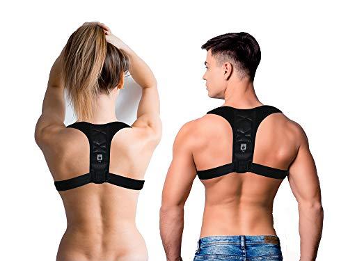 DmSport® Haltungskorrektur Gurt Rücken [verbesserte Version 2020] verstellbar | Haltungstrainer gerader Rücken Damen Herren | Haltungskorrektur Geradehalter für Rücken Schulter Rückenstabilisator