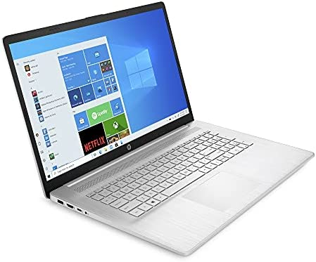 """HP 2021 Flagship 17 Laptop Computer 17.3"""" HD+ BrightView Display AMD Athlon Silver 3050U 4GB RAM 256GB SSD AMD Radeon Graphic USB-C WIFI6 Up to 7 Hours of Battery Life Win10 Silver + iCarp HDMI Cable WeeklyReviewer"""