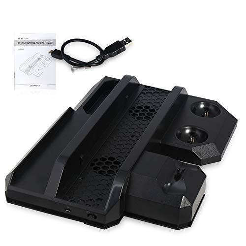 pour PS4 Pro & PS4 mince & PS4 support de refroidissement Vertical multifonctionnel, PS Move & PS4 contrôleur chargeur Station et PS VR Showcas