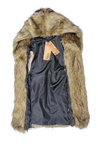 Idopy Men's Faux Fur Hoodie Coat