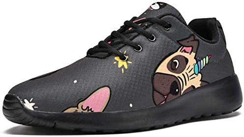 Doggicorn Pugs and French Bulldogs with Unicorn Horn Men s Sport Shoes Casual Sneakers for Man product image