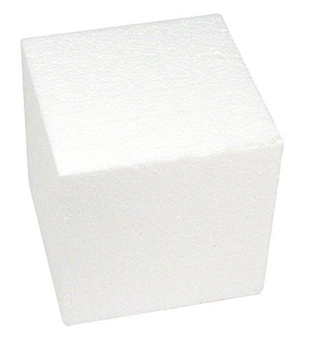 RAYHER HOBBY 3000300 Styropor-Würfel, 20x20x20 cm, weiß, quadratische Form. Styroporwürfel, ideal zum Basteln und für den Modellbau