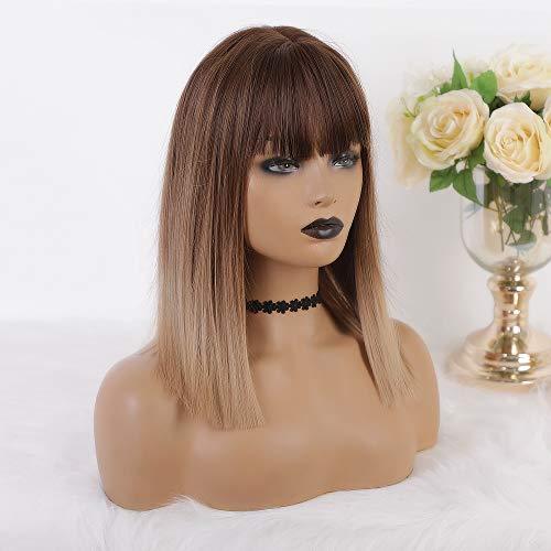 MISHAIR Mode Mädchen Wigs Dunkel Bild