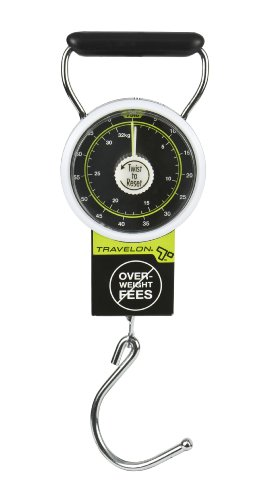 Travelon Stop & Lock Luggage Scale, Black, One Size