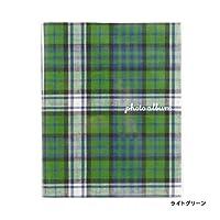 スクラップフリーアルバム チェック(M) ライトグリーン [AL068]