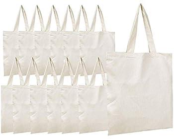 Simpli-Magic Canvas Tote Bags 11  x 13  Pack of 15 Natural
