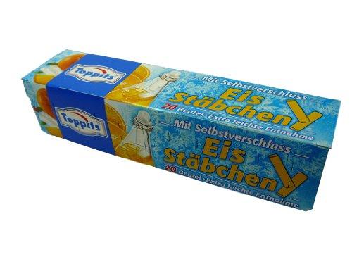 """Eiswürfelbeutel\"""" Eis - Stäbchen\"""" mit Selbstverschluss, 20 Beutel, Party, kühle Getränke in Flaschen, Eiskugeln, Eiskugelbeutel"""