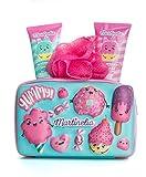 familie24 Yummy Körperpflege-Set Duschgel + Bodylotion +Duschschwamm mit Mäppchen Cupcake...