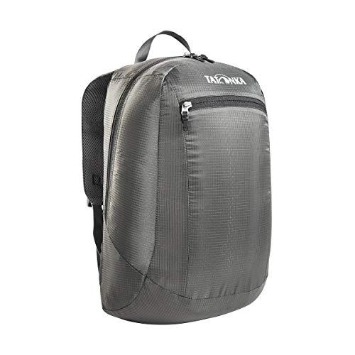 Tatonka Squeezy - faltbarer Rucksack mit Fronttasche - ultraleicht und aus reißfestem Material - 18 Liter - grau