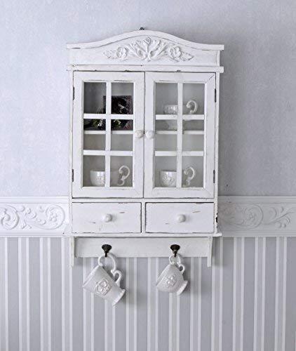 Vintage Hängeschrank Weiss Schrank Shabby Chic Hängevitrine Wandschrank mxa021 Palazzo Exclusiv
