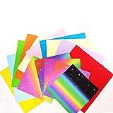 Anyasen origami papel 150 hojas de doble cara de papel papel origami arcoiris papel para papiroflexia para Papel de Origami Set para niños y adultos (2 tamaños 10 colores)