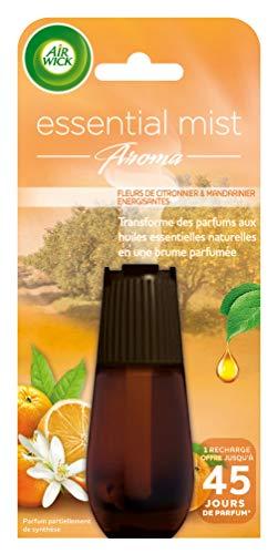 Air Wick Recharge Diffuseur d'Huiles Essentielles Essential Mist Fleur de Citronnier et de Mandarinier 20 ml