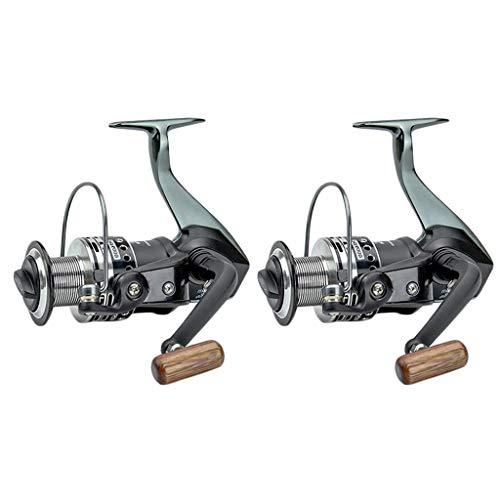 YRODYU Fishing Wheel, Metalen lagers Ergonomische Voorkant Drag Spinning Reel Voor Raft Boot Karper Vishengel (2 stuks)