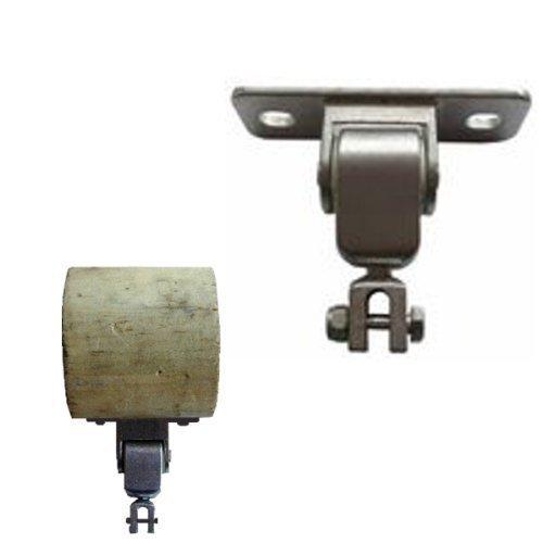 Loggyland Schaukelhaken Schaukelgelenk mit Montageplatte für Kantholz