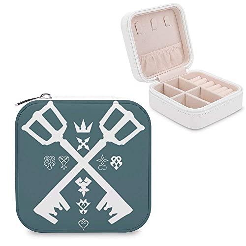 Kingdom Hearts - Portagioie da donna, in pelle, portatile, da viaggio, per gioielli, orecchini, collana, braccialetto, San Valentino