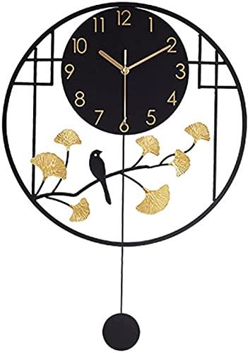 reloj de pared Reloj de pared de metal silencioso Reloj de pared de no tapón de cuarzo Reloj de pared grande Operado para la sala de estar relojes decorativos de pared Decoraciones para el hogar