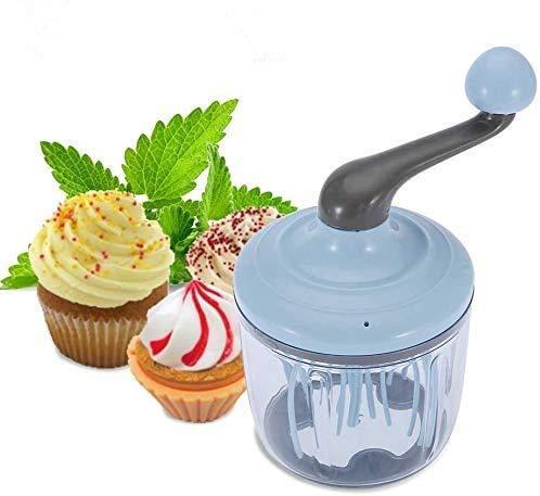 Wifehelper Manuelle Ei-Sahne-Schneebesen Hand Typ Schaum-Hersteller, Hand Typ Ei-Sahne-Schneebesen Multifunktions-Schneebesen praktische Küche Werkzeug 1100ml