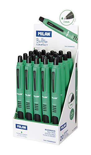 Milán – Expositor 20 bolígrafos Compact verde