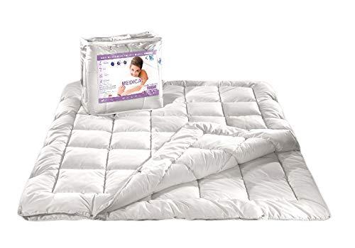 all4all Neue Bettdecke Steppdecke 140x200/160x200/180x200/220x200 Medical 4 Jahreszeiten Steppung antiallergisch für Allergiker 100% (180 x 200 cm)