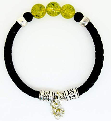 Lifestyle Schmuck Ihr Online Juwelier für hochwertigen Schmuck Armband aus echt Leder mit echten Olivin Steinen von Lanzarote (Handarbeit)