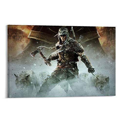 DRAGON VINES Assassin's Creed - Marco de pintura para pared (20 x 30 cm)