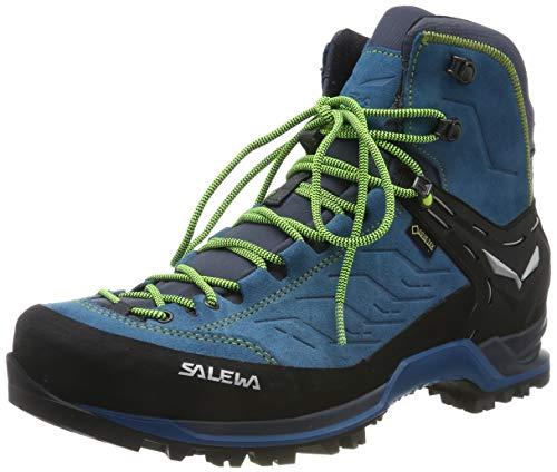 Salewa Herren MS Mountain Trainer Mid Gore-TEX Trekking-& Wanderstiefel, Poseidon/Fluo Yellow, 44.5 EU